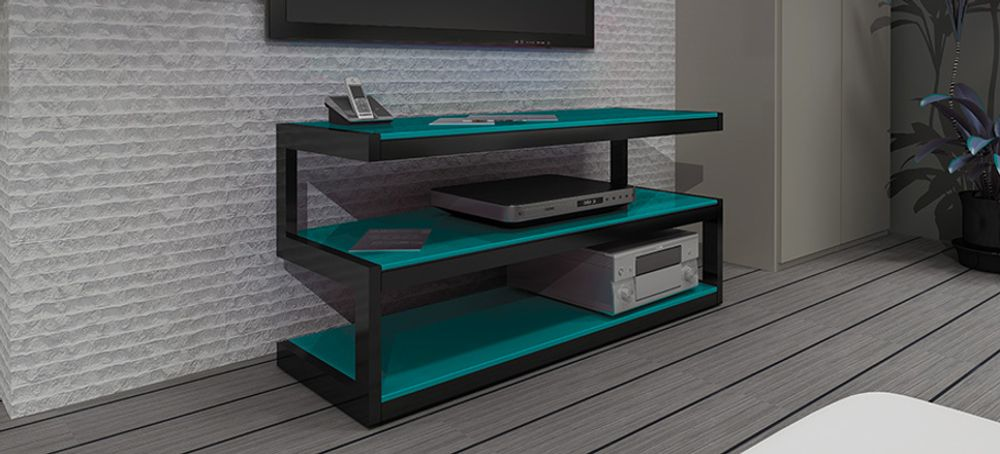 norstone esse noir verre rouge meubles et pieds tv. Black Bedroom Furniture Sets. Home Design Ideas