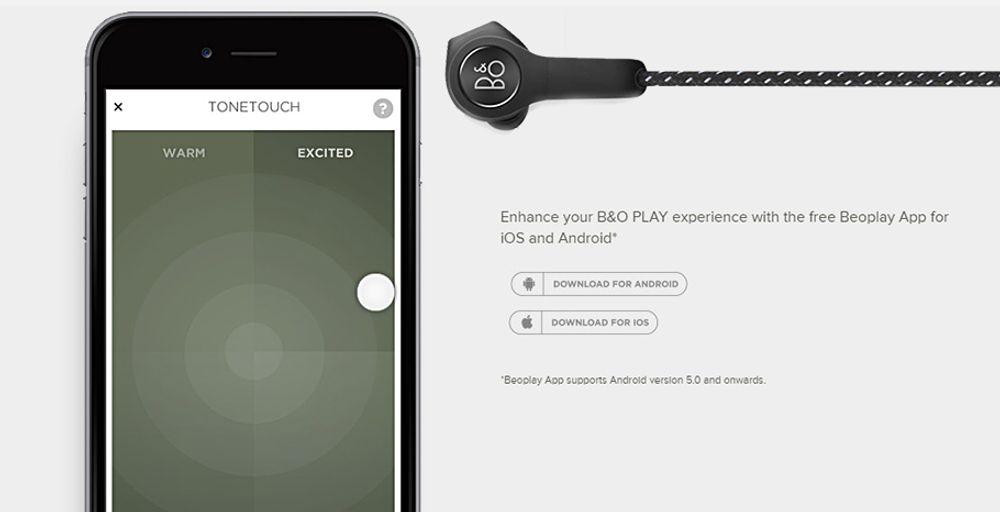 Casque intra-sport sans fil Bluetooth® 4.2 compatible aptX - B&O BEOPLAY H5