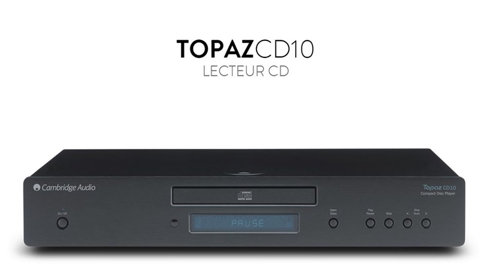 Lecteur CD/-R/-RW/-ROM compatible MP3, MP3 Pro et WMA - CAMBRIDGE TOPAZ CD10