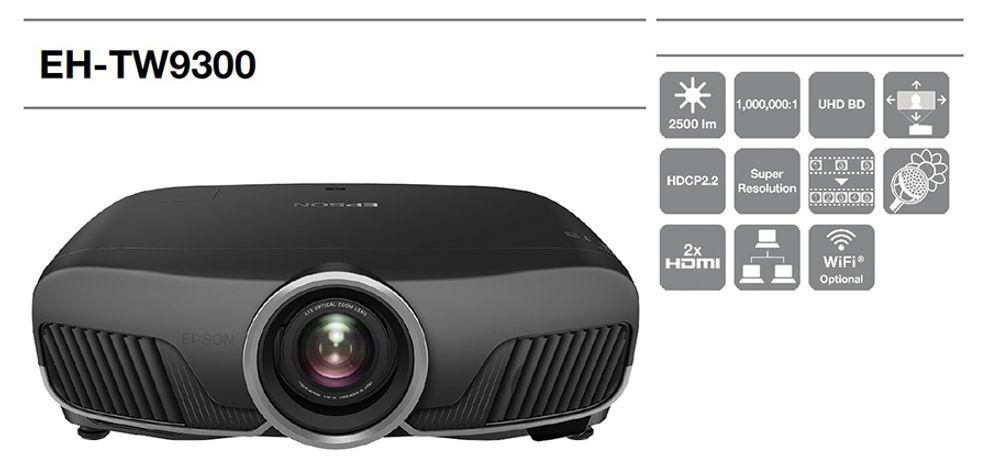 Vidéoprojecteur Tri-LCD  avec 3D active, technologies d'amélioration 4K, HDR et ISF - EPSON EH-TW9300