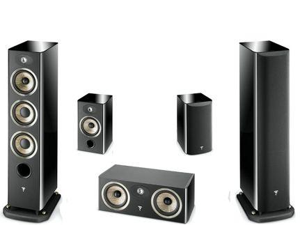 FOCAL Pack 5.0 ARIA 926 + CC900 + 906 Black High Gloss