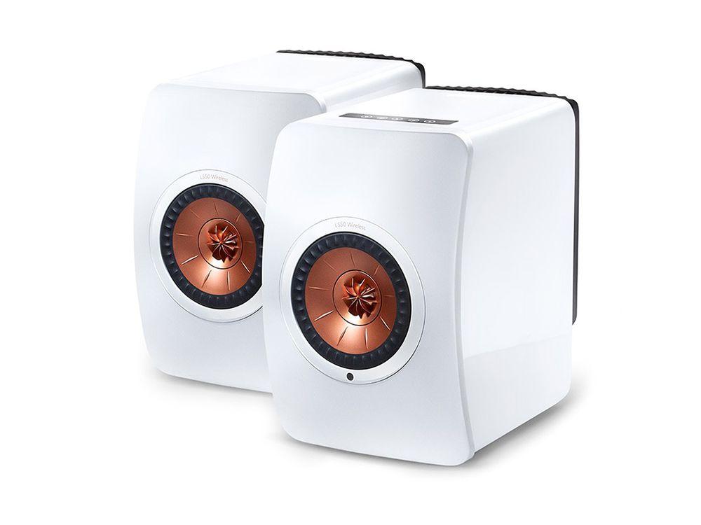 kef ls50 wireless blanche enceintes biblioth que. Black Bedroom Furniture Sets. Home Design Ideas