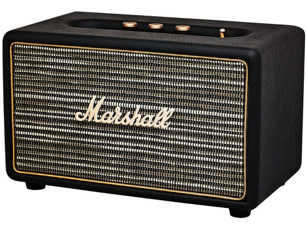 marshall acton noir enceintes mp3 sans fil. Black Bedroom Furniture Sets. Home Design Ideas
