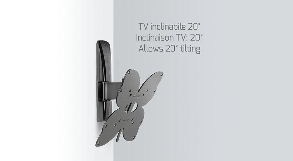 Support mural orientable pour TV écran plat de 26 à 40 pouces jusqu'à 30kg - MELICONI Slimstyle 200 ST