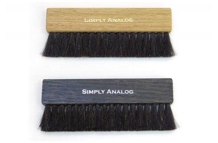 SIMPLY ANALOG Brosse de nettoyage Anti-static bois brun