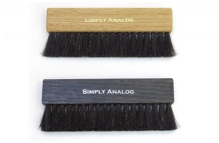 SIMPLY ANALOG Brosse de nettoyage Anti-static bois noir