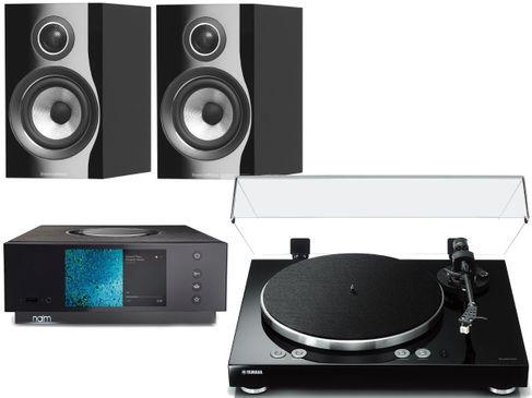 NAIM UNITI ATOM HDMI + YAMAHA VINYL 500 Noir + B&W 707 S2 Noir