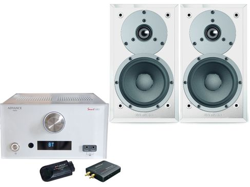 ADVANCE AX1 CONNECT Blanc + DYNAUDIO EMIT M10 Blanc Satin