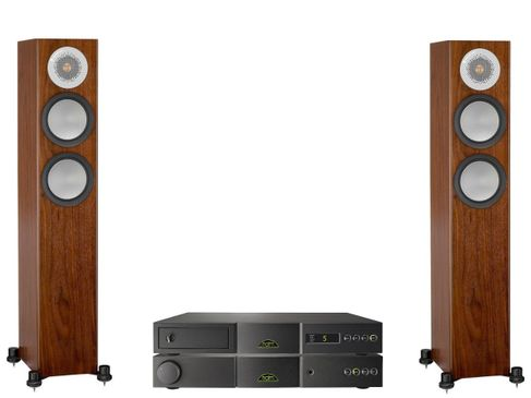 NAIM NAIT 5si + CD5si + MONITOR AUDIO SILVER 200 Walnut