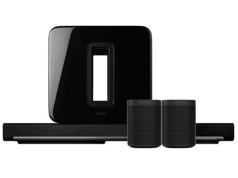 SONOS PLAYBAR + SUB Noir + ONE G2 Noir (x2)