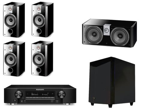 MARANTZ NR1710 Noir + FOCAL Pack 5.1 CHORUS 706 V + CC700 + SW700 Black High Gloss