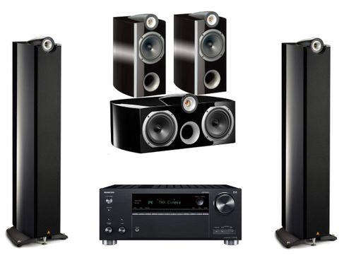 ONKYO TX-RZ740 Noir + TRIANGLE GENESE QUARTET + VOCE + TRIO Noir Laqué