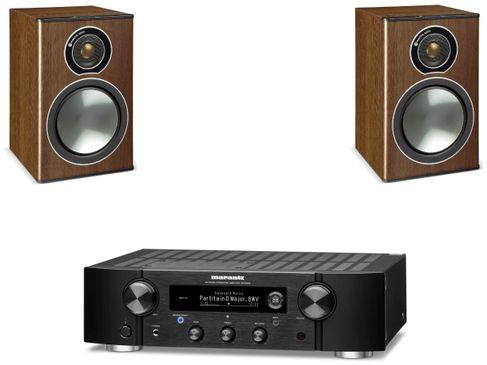 Marantz PM7000N Noir + Monitor Audio Bronze 1 Noyer