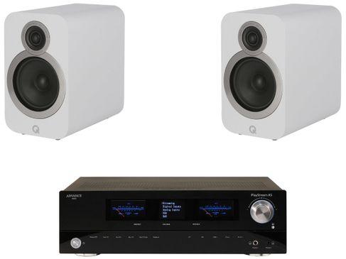 Advance Paris PlayStream A5 + Q Acoustics 3020i Blanc