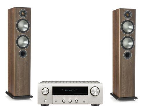 Denon DRA-800H Silver + Monitor Audio Bronze 5 Noyer