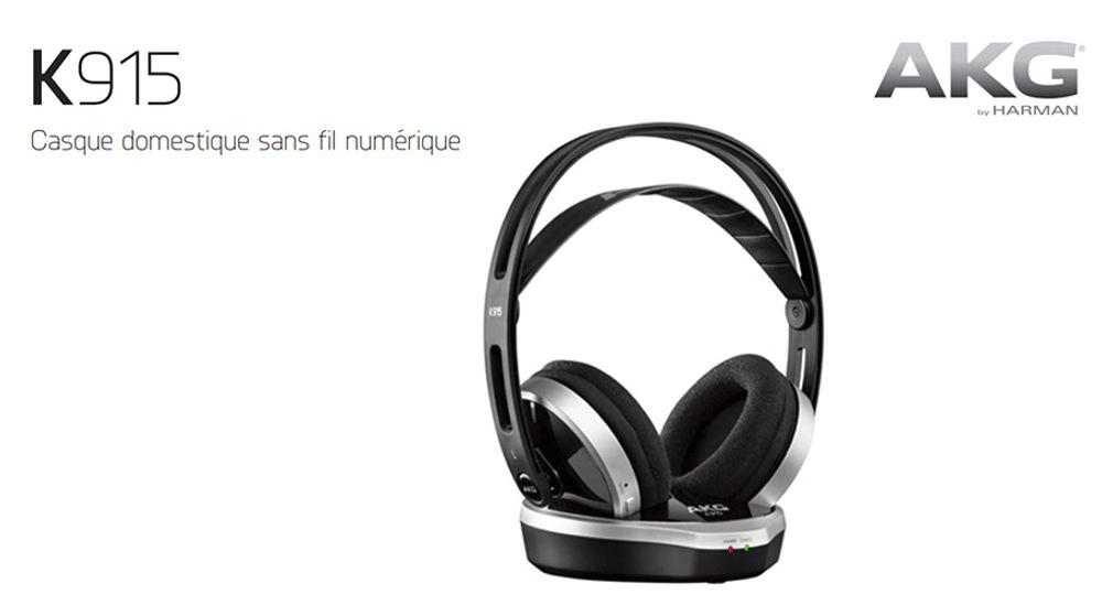 Casque audio sans fil de salon - AKG K915