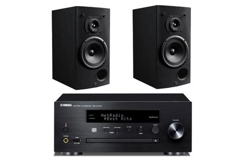 YAMAHA MusicCast CRX-N470D Noir  + TRIANGLE COMETE 902 Noir
