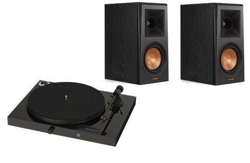 PROJECT JUKE BOX E Piano Black (avec OM5)  + KLIPSCH RP-500 M Ebony