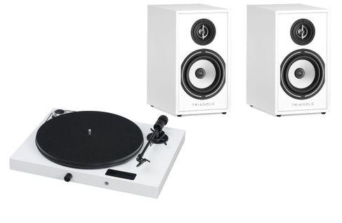PROJECT JUKE BOX E Piano White (avec OM5)  + TRIANGLE Borea BR 02 White