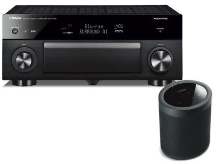 YAMAHA MusicCast RX-A1080 Noir + YAMAHA MusicCast 20 (WX-021) Noir