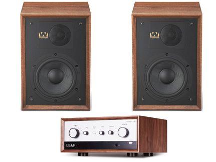 Leak Stereo 130 Walnut + Wharfedale Denton 85 Walnut