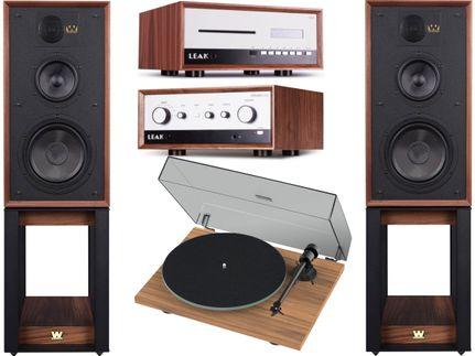 Leak Stereo 130 + CDT + ProJect T1 + Wharfedale Linton Heritage Walnut