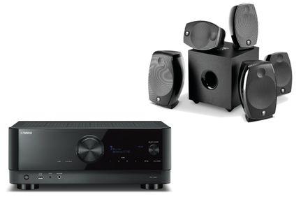 YAMAHA RX-V6A Noir + FOCAL Pack SIB EVO Dolby Atmos 5.1.2 Noir