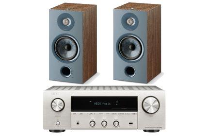 DENON DRA-800H Silver + FOCAL CHORA 806 Dark Wood