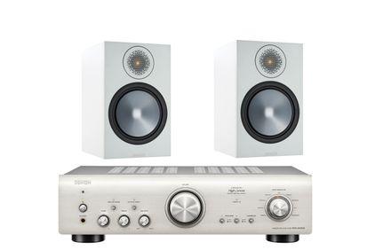 DENON PMA-800NE Silver Premium + MONITOR AUDIO BRONZE 100 Blanc