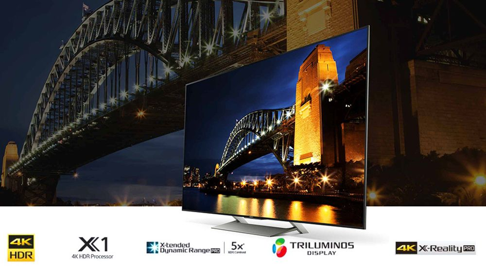 TV Ultra HD 4K avec technologie X-tended Dynamic Range PRO,   TRILUMINOS - SONY KD-65XE9005