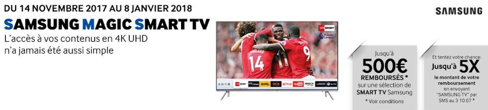 Offre de remboursement Samsung TV : jusqu'à 500€ remboursés !
