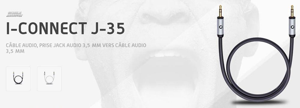 Câble audio avec prise jack audio 3.5 mm vers prise jack 3.5 mm - OEHLBACH i-Connect J-35